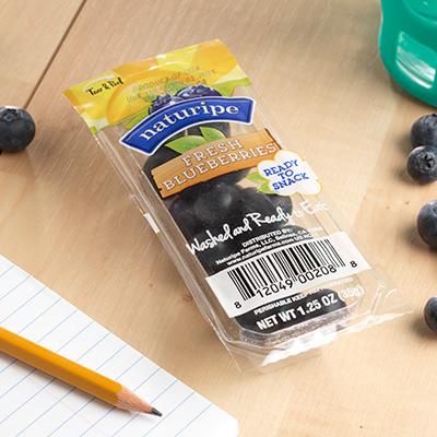 one hundred percent fresh blueberries