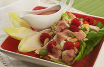 Raspberry Rich Turkey Salad
