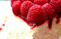 Toasted Coconut &#038; Raspberry Cheesecake