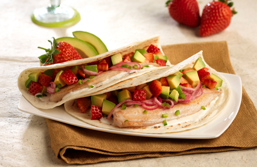 Naturipe Farms® Sweet and Savory Tilapia Tacos