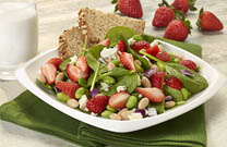 Strawberry White Bean and Edamame Salad